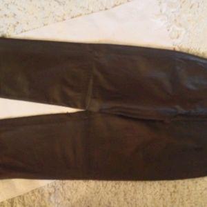 NWOT Ladies brown soft leather pants